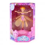 Летающая фея Flying Fairy с подсветкой и музыкой, желтая