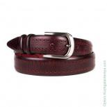 Мужской брючный кожаный ремень Doublecity RC35-35-01 Бордо
