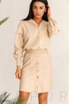 Кожаная юбка базового цвета