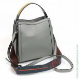 Женская кожаная сумка 2270 Лайт Грин