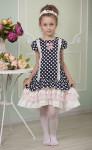 """Платье для девочки """"Горошек"""" (128-64)"""