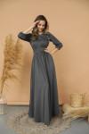 Платье 425-1/1, графит
