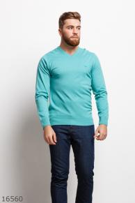 Мужской пуловер 16560 ментоловый