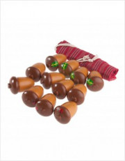 Счетный материал 12 желудей в льняном мешочке