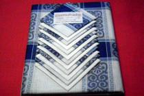 Скатерть+12 салфеток 1,5-2,2 м лен