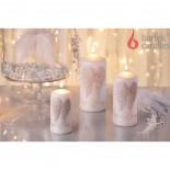 свеча колонна Ангельские крылья 70х150