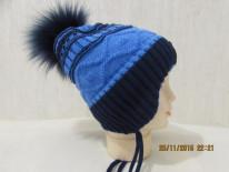 шапка зимняя 3-7 лет