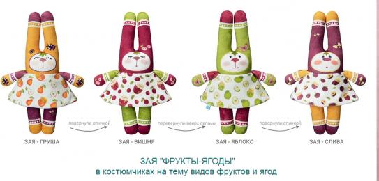 ЗАЯ на тему ФРУКТЫ-ЯГОДЫ: Яблоко, Слива, Груша, Вишня