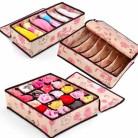 Набор 3 шт. ящика для белья с крышкой Цветы