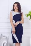 Платье 713. Синий. Плательная ткань