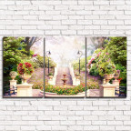 Модульная картина Весенний сквер 3-1