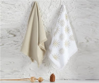 Махровые Кухонные Полотенца с Вышивкой 45x65 см 2 шт/уп - Ec