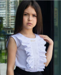 """Школьная блузка для девочки """"SH-59"""""""
