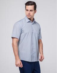 Фабричная мужская рубашка Rotelli бело-голубая модель 490/1