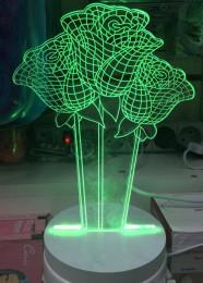 СВЕТИЛЬНИК 3D РОЗА CREATIVA LIGHT