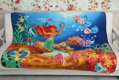 "Плед детский ""Подводное царство"" 130*160"