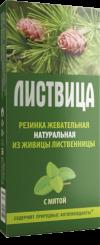 """Жевательная резинка""""Листвица"""" с мятой 4 шт по 0,8 гр."""