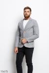 Мужской пиджак 15675 серый
