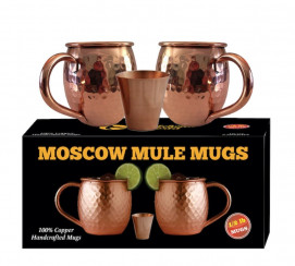 Moscow Mule Copper Mugs - Each Mug weighs 1/2 Pound