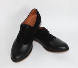 Кожаные туфли с замшевыми вставками арт. 05-6