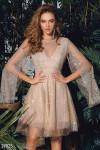 Платье-мини с открытой спинкой