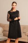 Платье 439, черный/сетка/горох