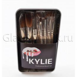 Набор кистей в железной упаковке 12 шт. Kylie