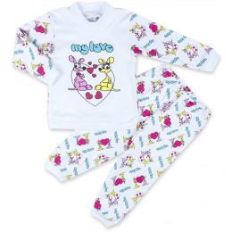Пижама IDEA KIDS длинный рукав, штанишки на манжете, с принт