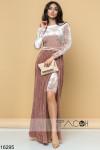 Бархатное платье с юбкой плиссе