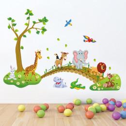 Наклейка многоразовая «Зоопарк»