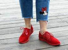 Замшевые туфли в стиле  кэжуал. New collection 17-18