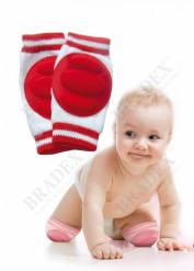 Наколенники детские для ползания красные (baby thicken spong