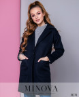 Пальто №636-Темно-Синий