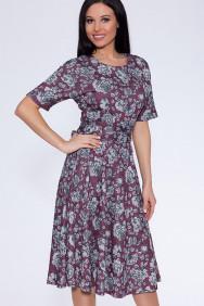 12159 Платье (Emansipe)Бордовый/серый