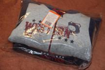 Комплект (полукомбин и курточка)  Вестерн р.74 серый и синий