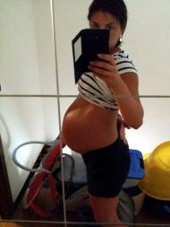 Фото животиков на 41 неделе беременности