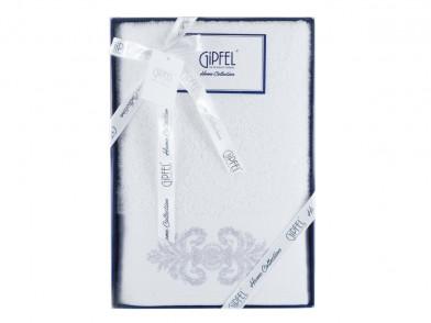 40776 GIPFEL Полотенце DAMASK,  70х140 см., белый, состав: 1