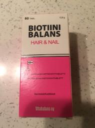 Biotiini Balans - витамины для волос и ногтей