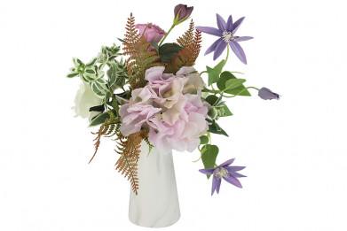 Декоративные цветы Букет клематисы сиреневые и гортензии в к