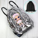 Сумка рюкзак для девочек Куколка