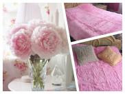 Плед пушистый цвет нежно-розовый
