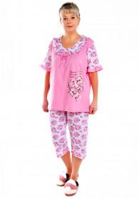 """Пижама """"Дамский каприз"""" -2 бриджи розовый"""