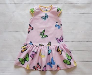 """Бязевое платье для девочки """"Бабочки"""""""