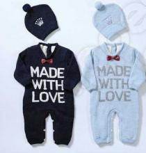 Комплект комбинезон и шапочка MADE WITH LOVE