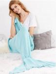 Одеяло-русалка светло-голубое