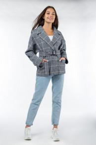 01-9906 Пальто женское демисезонное (пояс)