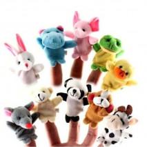 Пальчиковые куклы набор 10 шт. Звери