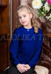 Трикотажная блузка А*нфиса 2017 т-синяя