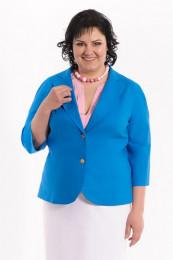 Жакет 1022 лен голубой