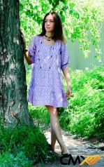 Платье сиреневое